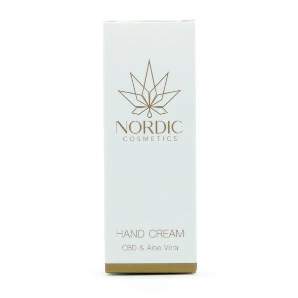 0000627 Nordic Cosmetics Hand Cream Cbd Aloe Vera